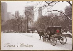horse carriage christmas card | Home > Christmas Cards > Cities and Cityscapes > New York > Horse and ...