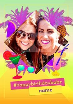 Birthday Babe Love Island Photo Card