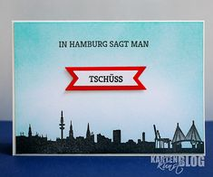 Karten-Kunst » In Hamburg sagt man Tschüss