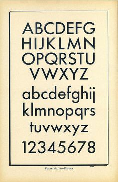 Type Charts 14 Futura front by Dunwich Type, via Flickr