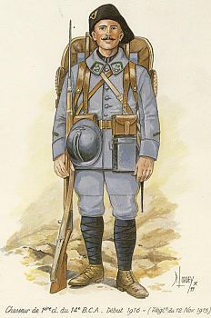 Chasseur alpin du 14e BCA en 1916