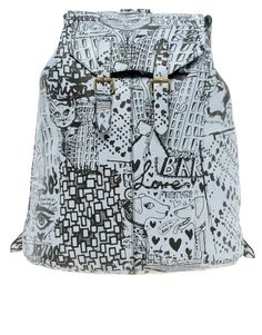 ASOS Leather & Print Backpack