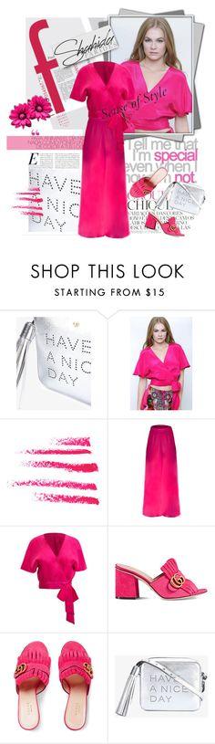 """Win a free Shahida Parides dress"" by lacas ❤ liked on Polyvore featuring Suarez, Topshop, Gucci and ShahidaParides"