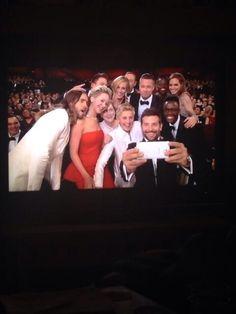 Oscars 2014. Best selfie ever when Ellen broke Twitter!