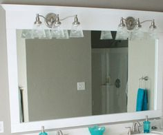 Large Bathroom Mirrors On Pinterest Large Bathrooms Bathroom Mirror Redo And Oval Bathroom Mirror