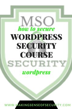 Have you thought about how secure your WordPress site is?  Do you keep your plug-ins updated?  Can visitors or hackers access your admin page? Making Sense of Security has thee best course to help bloggers and WordPress users keep their sites secure. This course is a must for all level bloggers. Learn how to check for fraudulent logins and prevent them, keep your business identity safe, know what to do if you have been hacked and MORE! Security Courses, Security Tips, Website Security, Social Media Tips, Time Management, Business Tips, Internet Marketing, How To Start A Blog, Wordpress