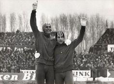 Europese Kampioenschappen schaatsen te Deventer. Ard Schenk en Kees Verkerk. 21 …