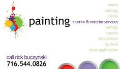 Image result for house painting business cards
