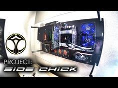 "Wall mounted PC ""Project SIDE CHICK"" - YouTube"