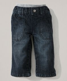 Look what I found on #zulily! Denim Organic Jeans - Infant & Toddler by Burt's Bees Baby #zulilyfinds
