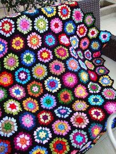 Ravelry: love at first sight hexagon pattern by Sucrette Love Crochet, Learn To Crochet, Beautiful Crochet, Crochet Baby, Knit Crochet, Crochet Hexagon Blanket, Crochet Squares, Crochet Granny, Crochet Bedspread
