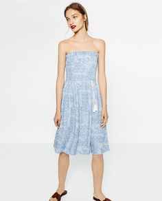 Image 1 of PRINTED DENIM DRESS from Zara