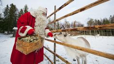 "Bucket list: travel during the holidays to visit the ""real"" Santa Claus in Finland. It's the Santa Claus Village at the Arctic Circle in Rovaniemi, Lapland. All I Want For Christmas, Merry Christmas, Father Christmas, White Christmas, Christmas Time, Christmas Ideas, Christmas Blessings, Christmas Scenes, Christmas Things"