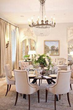 Formal dining room decorating ideas are a great way to entertain guests and the family in style. Vintage furniture in classic and certain periods inspired vintage furniture and decor accessories are wonderful for dining room decorating for formal events and special occasions. Decor4all shares a coll