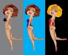 pin-up girl ~ Illustrations on Creative Market