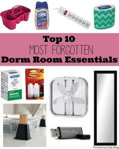Top 10 MOST FORGOTTEN Dorm Room Essentials!