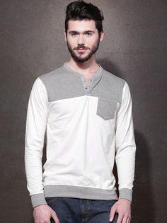 Roadster Solid Men's Henley T-Shirt