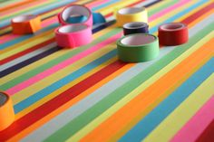 DIY taped table top. Maybe I need to do this on my desk.