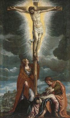 Veronese, Crocifissione, 1580 circa    olio su tela, cm 149 x 90   Budapest, Szépmuvészeti Muzeum   Collezione Esterhàzy, 1871