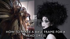 How to make a base frame for a hair-up headdress or hair piece - YouTube