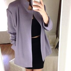 Chic Lavender Coat Perfect condition lavender wool blend coat from Jones New York. Size M could fit a L, two hip pockets/ chic neckline, no closure. 40% wool. Modern twist on a Peacoat! Jones New York Jackets & Coats Pea Coats