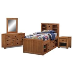 Alpine Captain Kids Furniture 6 Pc. Full Bedroom - Value City Furniture $1,299.97