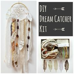 Cream DIY Dream Catcher Craft Kit Make Your Own Arts and Crafts Project For Adults or Children Craft Projects For Adults, Arts And Crafts Projects, Crafts To Make, Easy Crafts, Dream Catcher Kit, Dream Catcher Craft, Girls Night Crafts, Craft Night, Craft Kits