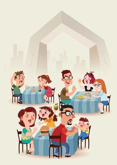 have a meal on Behance