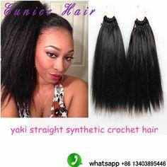 ... Yaki/kinky Straight 18crochet braids Heat Resistant Hair Yaki Style