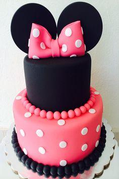 Pastel de Fondant Mickey y Minnie