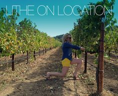 #LitheonLocation: Lither Lindsay Honzak shared this Lithe on Location shot just a week shy of her 6 month lithe anniversary. She and her family were at Amista Vineyards near Healdsburg, CA in the Sonoma Valley when her fiance captured this picture of her lunging in the vineyard!  She thanks us for making her days healthier, happier and brighter!