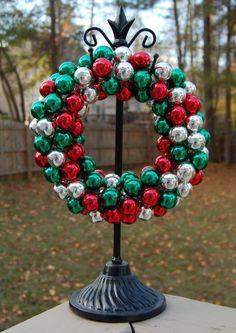 Mini Christmas Ornament Wreath