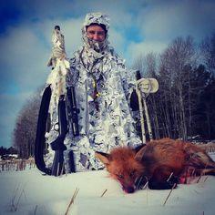 Called in this fox last morning with Tor  Ola Dehli. We gor everything on video :) #ATec #Norma #Blaser #Härkila #Interjaktbjørkelangen #storfangst #fox #foxhunting #foxcalling #mittjaktblad #norgesjegere by jonasbreda88