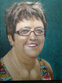Mijn zusje Janneke , geschilderd in acryl