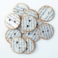 Creative Uses for Old Books 12 Amazing Book Crafts to Try Old Book Crafts, Book Page Crafts, Book Page Art, Old Book Pages, Old Books, Button Art, Button Crafts, Toys Quotes, Arts And Crafts