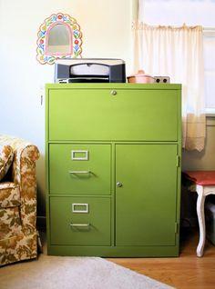 Scavenger Hunt: DIY: Painted Filing Cabinet