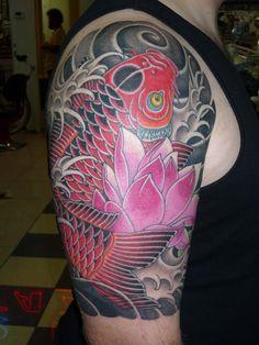 Koi Fish And Lotus Flower Tattoo  3315.jpg