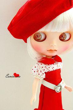 Blythe Dolls in Red
