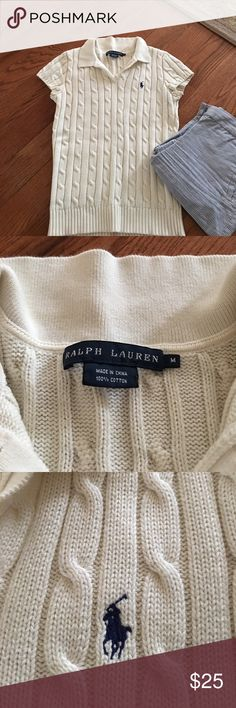 Ralph Lauren cable knit polo sweater. Polo SweaterCable SweaterCap ... 7e7bc3c30fb0