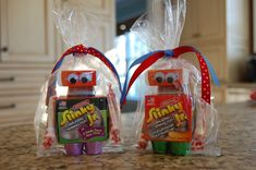 Robot Party favors.  This is a fun idea!  How creative!