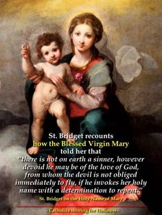 Pinterest Blessed Mother Mary, Blessed Virgin Mary, St Bridget, Happy Feast, Queen Of Heaven, Great Names, Christian Life, Gods Love, Catholic