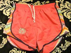 monogrammed running shorts!