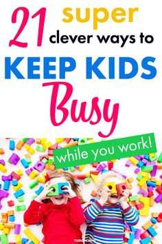 Are you a parent that works from home? Learn how to keep kids busy with clever and creative ways so they play for hours. Toddler play activities for a rainy day or to help you free up time to work and do chores. Gentle Parenting, Parenting Advice, Kids And Parenting, Mindful Parenting, Infant Activities, Activities For Kids, Indoor Activities, Mom Schedule, Summer Schedule