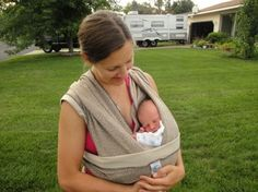 How to Use a Moby Wrap and Nurse a Baby (Video) | Kitchen Stewardship | A Baby Steps Approach to Balanced Nutrition