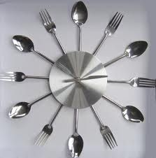 silverware clock - perfect for in the kitchen