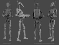 Battle droids were actually supposed to be white like storm troopers but got changed last minute Star Wars Battle Droids, Combat Suit, Grand Admiral Thrawn, Galactic Republic, Star System, Star Wars Clone Wars, Star Wars Characters, Minions, Concept Art