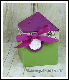 Stampingwithamore: Stampin'Up Pyramid Topped Treat Box