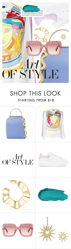 """Arm Candy: Statement Bags"" by cultofsharon ❤ liked on Polyvore featuring Roksanda, Versace, Pierre Hardy, Alexander McQueen, Arme De L'Amour, Gucci and APM Monaco"