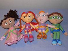 "Super Why Complete Set Lot 4 Wyatt Princess Presto Pig Wonder Red Doll Plush 8"" | eBay"