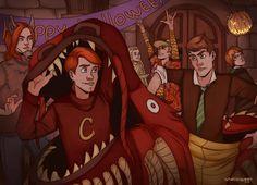 Hogwarts Mystery Halloween by LunaticQueenArt on DeviantArt Harry Potter Tops, Harry Potter Games, Harry Potter Hogwarts, Harry Potter World, Fantastic Art, Fantastic Beasts, Mystery Games, Hogwarts Mystery, Fan Art